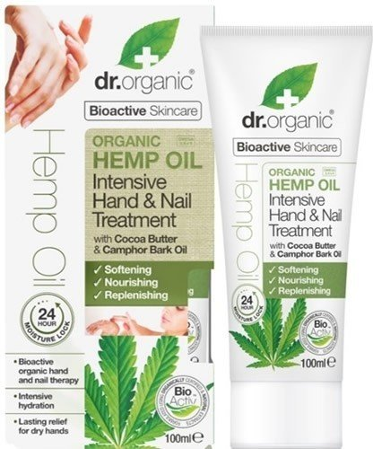 Dr Organic Hemp Oil Intensive Hand & Nail Treatment - Tratamiento de Manos y Uñas de Aceite de Cañamo 100 ml