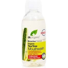 Dr Organic Tea Tree Mouthwash - Enjuague Bucal de Arbol de Te 500 ml