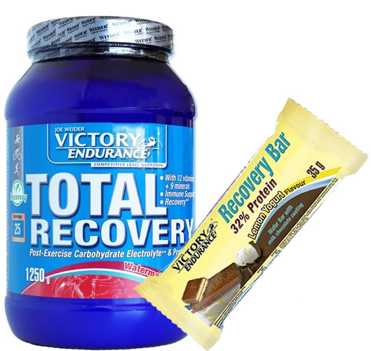 Pack Victory Endurance Total Recovery 1250 gr + Recovery Bar 1 barrita x 35 gr (32% Whey Protein)