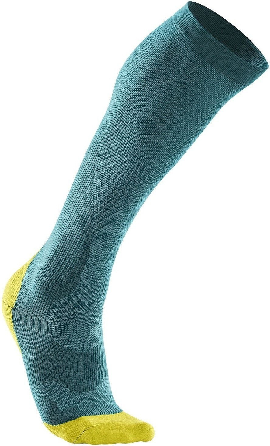 Calcetines 2XU Compression Performance Run Sock AZUL PEACOCK - LIMÓN MUJER
