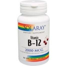 Solaray Vitamina B12 2000 Mcg 90 Comp