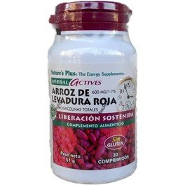 Natures Plus Arroz De Levadura Roja 600 Mg 30 Cap