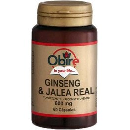 Obire Ginseng + Jalea Real 600 Mg 60 Caps