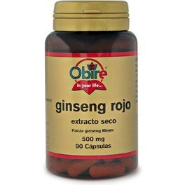 Obire Ginseng Rojo Ext Seco 500 Mg 90 Caps