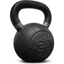 Ruster Kettlebell Cast Iron 28 Kg Pesa Rusa Musculación Cross Training