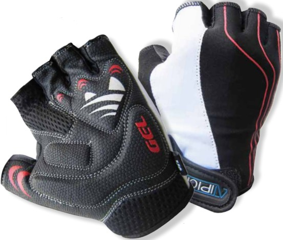 Atipick Guantes Stripe Gel Technology - NEGRO - ROJO - BLANCO