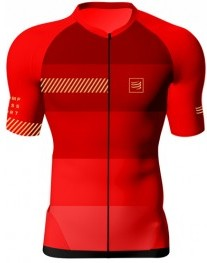 Compressport Cycling Shirt Born To Ride-Maillot Lagos de Covadonga Rojo b4385d9e820
