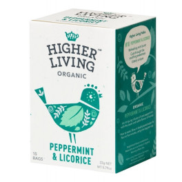 Higher Living Infusión De Menta & Regaliz 15 Bolsas