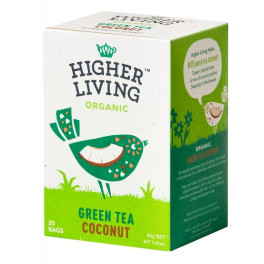 Higher Living Té Verde Con Coco 20 Bolsas