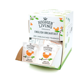 Higher Living Té English Breakfast Bio (formato 200 Bolsas)