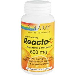 Solaray Reacta C 500 Mg 60 Vcaps