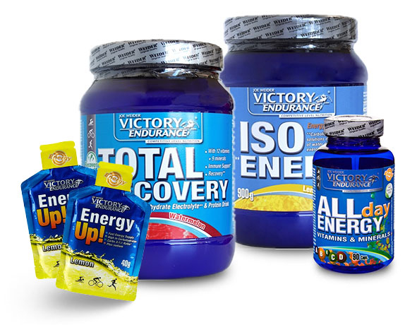 Pack Victory Endurance Total Recovery 750 gr + Iso Energy 900 gr + All Day Energy 90 caps + Energy Up! 2 geles x 40 gr