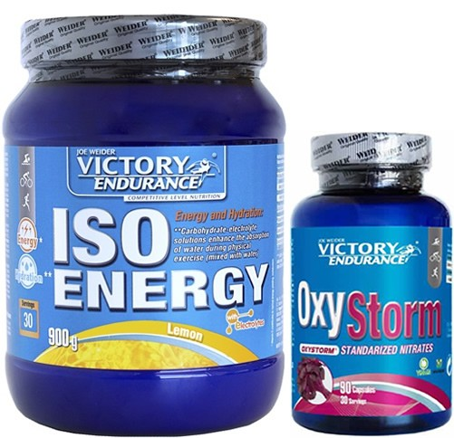 Pack Victory Endurance Iso Energy (Isotonico) 900 gr + OxyStorm 90 caps