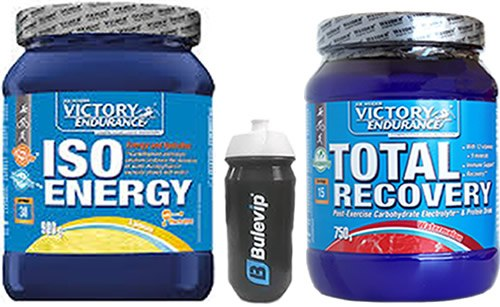 Pack Victory Endurance Iso Energy 900 gr + Total Recovery 750 gr + Bidon Bulevip 600 ml