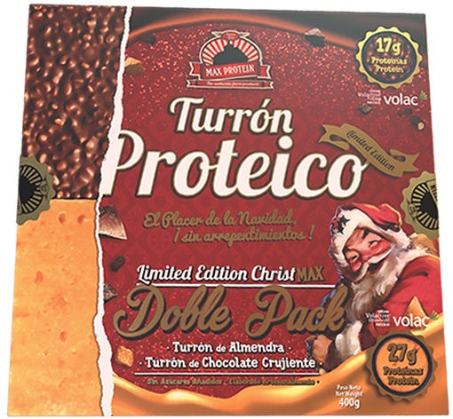 Max Protein Christmax Turron Proteico Doble Pack