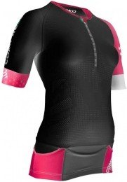 Compressport Triatlon Aero Top TR3 Mujer Negra