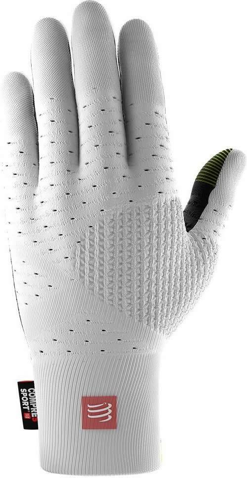 Compressport 3D Thermo Seamless Running Gloves Blanco-Negro