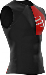 - Compressport Camiseta Triathlon Postural Tank Top Sin Mangas Negro XS