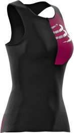 Compressport Camiseta Triathlon Postural Ultra Tank Top Sin Mangas Mujer Negro