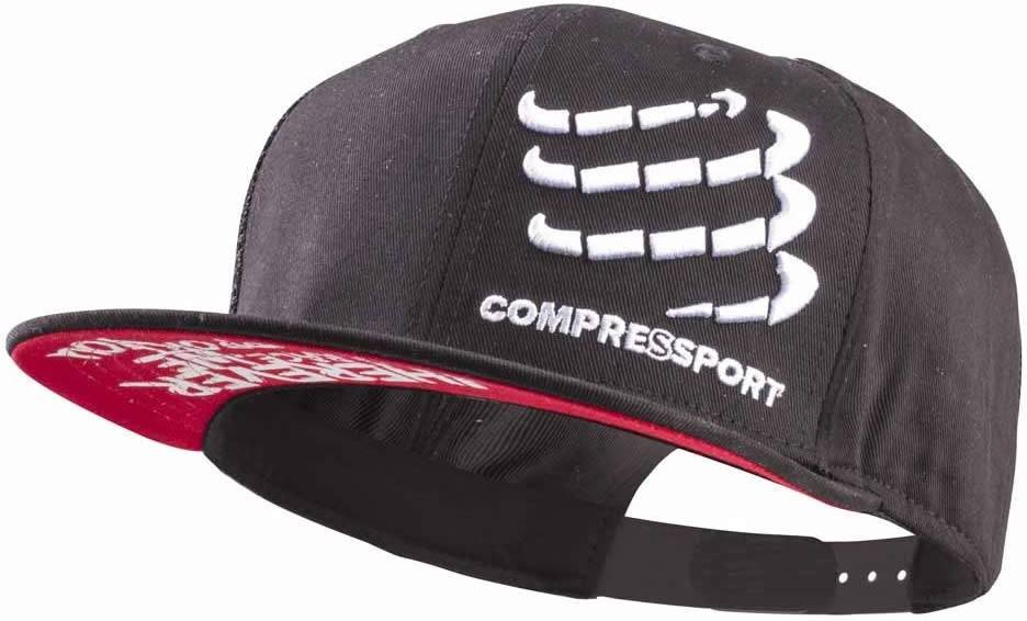 Compressport Gorra Flat Cap Negra