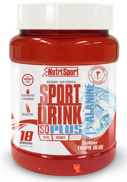 Nutrisport Sport Drink Iso Powder Plus B-Alanina 900 gr + Bidón 750 ml