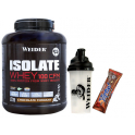 Pack Weider Isolate Whey 100 CFM 2 kg + Shaker 550 ml + Yippie! Bar 1 barrita x 70 gr