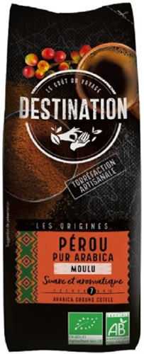 Destination Cafe Perou - Pur Arabica Moulu 250 gr