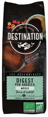 Destination Cafe Molido Didestivo 100% Arabica Bio 250 gr