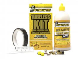 X-Sauce Kit Tubeless Mtb V. Gorda - Cinta Negra 25mm:
