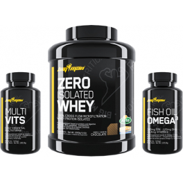 Pack BigMan Zero Whey Protein Isolate 2 kg (4,4 Lbs) + Multi-Vits 60 caps + Fish Oil Omega 3 90 caps