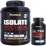 Pack Weider Isolate Whey 100 CFM 2 kg + Ultra Burner 120 caps