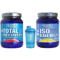 Pack Victory Endurance Total Recovery 750 gr + Iso Energy (Isotonico) 900 gr + Shaker Mezclador Azul - 300 ml