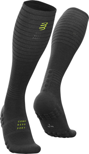 Compressport Calcetines Full Socks Oxygen FW Black Edition Negro