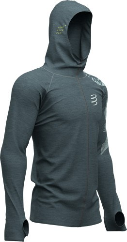 Compressport Sudadera 3D Hoodie Born to SBR 2019 Gris