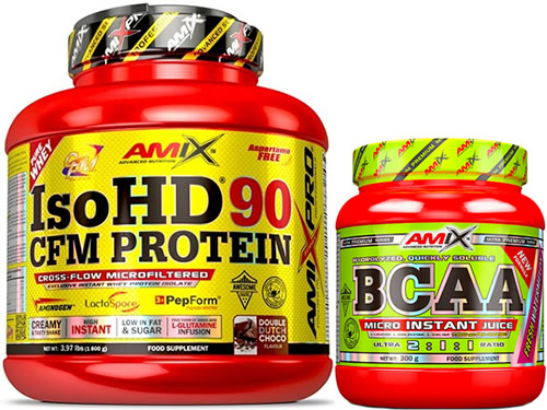 Pack Amix Pro Iso HD CFM Protein 90 1800 gr + BCAA Micro Instant Juice 300 gr