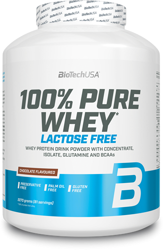 BioTechUSA 100% Pure Whey - Sin Lactosa 2270 gr