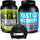 Pack Gold Nutrition Gold Drink 1 kg + Fast Recovery 1 kg + Gorro Natacion Negro