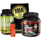 Pack Gold Nutrition Gold Drink 1 kg + Pre-Workout Endurance 300 gr + Toalla Negra + Bidon 750 ml