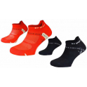 Pack de 2 Pares BV Sport Calcetines Running Light One Ultra Courte Naranja Rosa