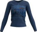 - Compressport Training Tshirt LS Camiseta Manga Larga Mujer Mont Blanc Azul L