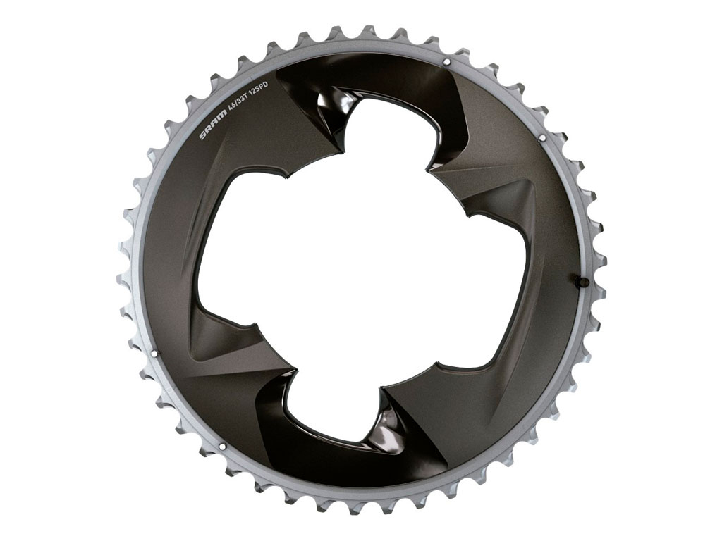 Sram Plato Road Force (axs) 2x12 46t 107 Bcd Polar Grey With Cover Plate