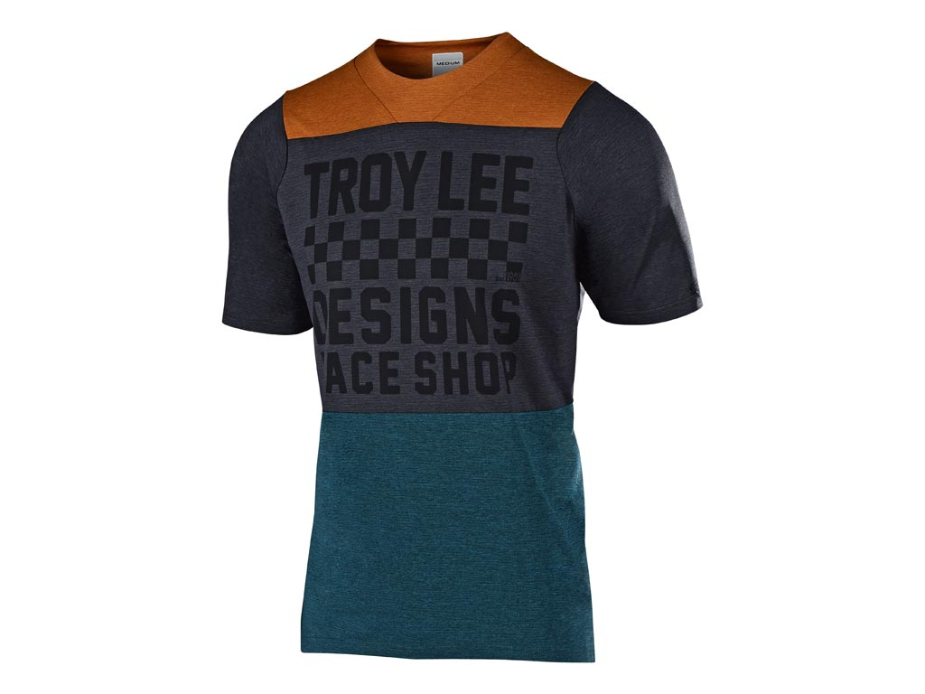 Troy Lee Designs Skyline S/s Air Jersey 2019 Checkers Htr Clay / Cadet S