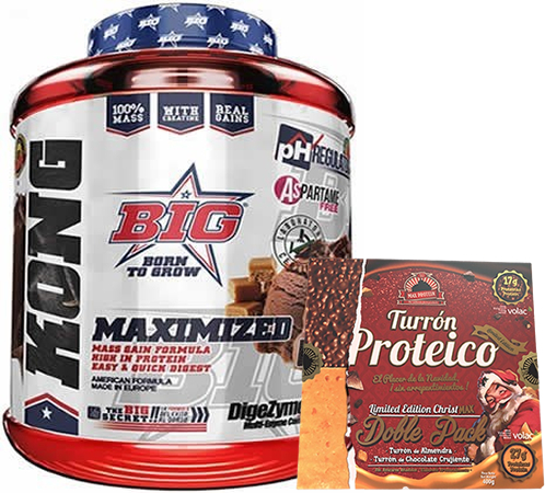 Pack BIG Kong Gainer 3 kg +Max Protein Turron Proteico Edicion Limitada Christmax Doble Pack 400 gr