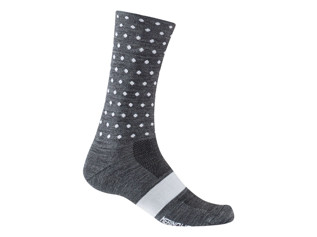 Giro Seasonal Merino Wool 2020 Charcoal/white Dots Xl