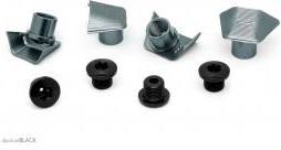 Absolute Black Repuesto - Road Bolt Covers - Ultegra 8000 Covers + Bolts Grey