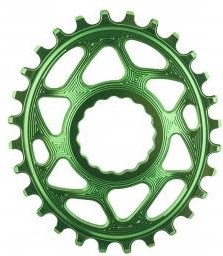 Absolute Black Plato Mtb Ovalado Raceface Dm Green (6mm Offset) 28t