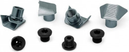 Absolute Black Repuesto - Road Bolt Covers - Dura Ace 9100 Covers + Bolts Grey