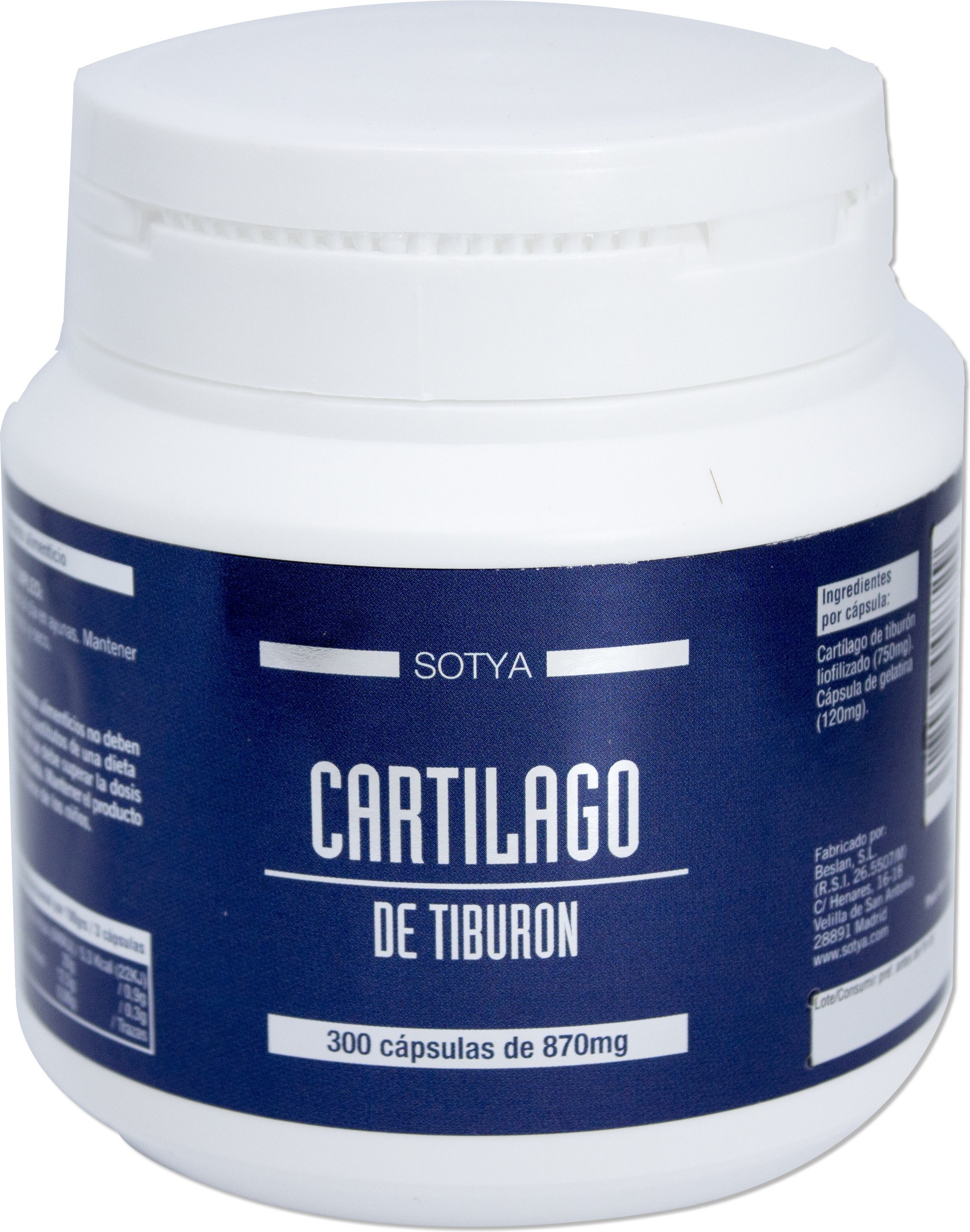 Sotya Cartilago Tiburon 870 Mg 300 Caps
