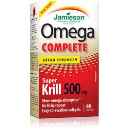 Jamieson Omega Complet Super Krill 500mg 60 Cap
