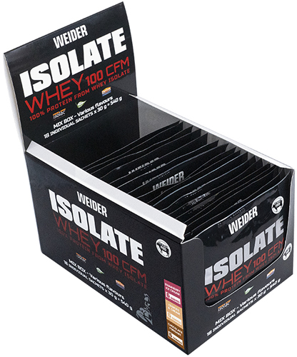 Weider Isolate Whey 100 CFM Mix Box 18 sobres x 30 gr